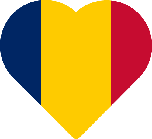Vector flag of Chad - Heart
