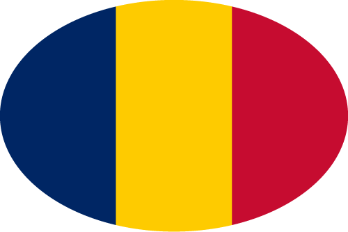 Vector flag of Chad - Oval