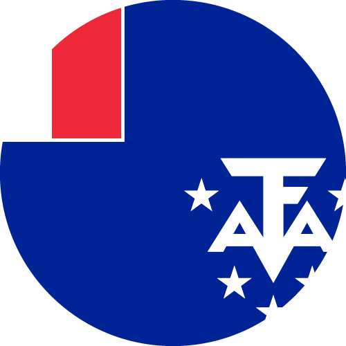 Vector flag of the French Southern and Antarctic Lands - Circle