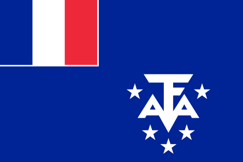 Vector flag of the French Southern and Antarctic Lands