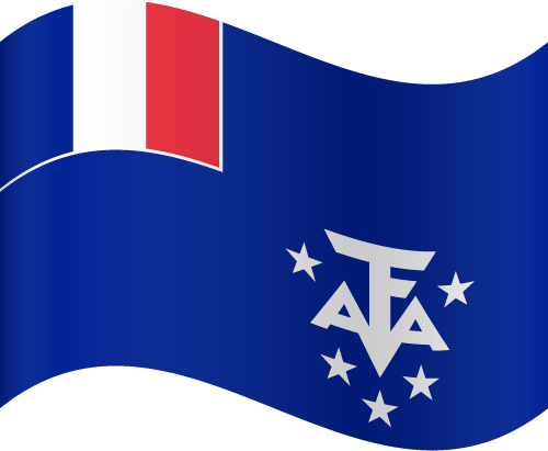Vector flag of the French Southern and Antarctic Lands - Waving