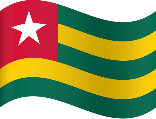 Vector flag of Togo - Waving