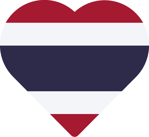 Vector flag of Thailand - Heart