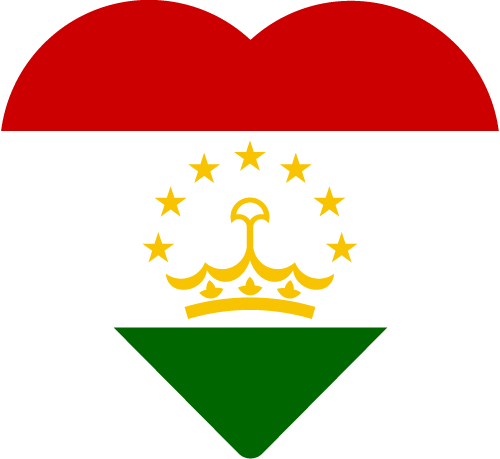 Vector flag of Tajikistan - Heart