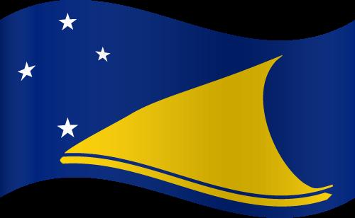 Vector flag of Tokelau - Waving