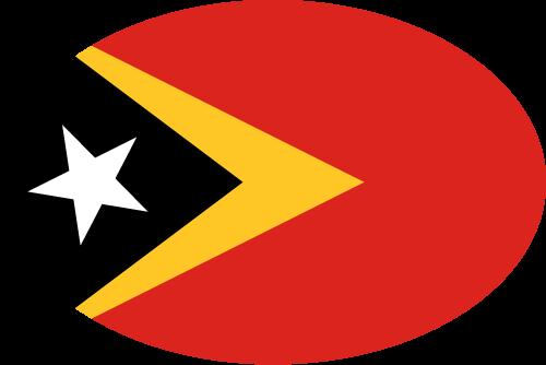 Vector flag of East Timor - Oval