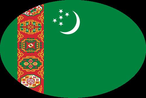 Vector flag of Turkmenistan - Oval