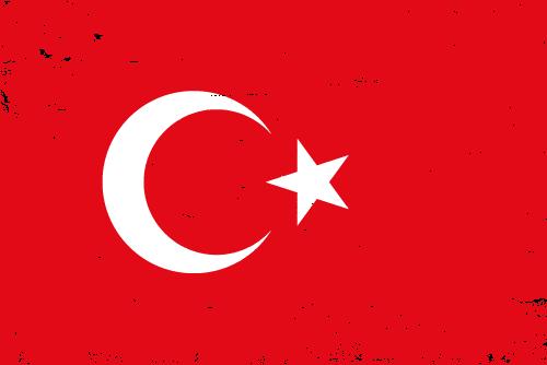 Vector flag of Turkey - Grunge