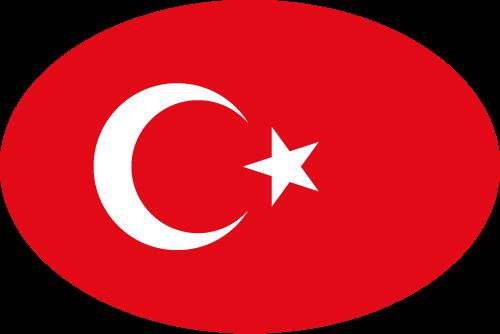 Vector flag of Turkey - Oval