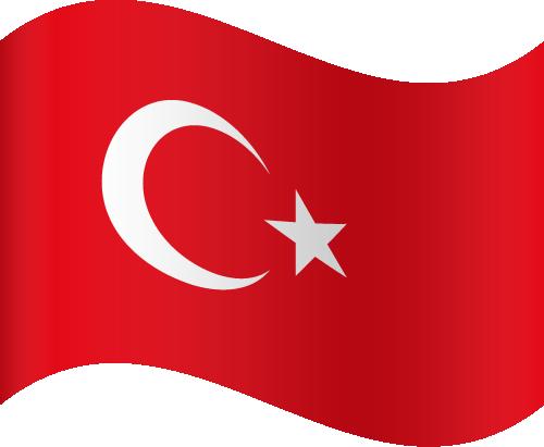 Vector flag of Turkey - Waving