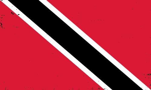 Vector flag of Trinidad and Tobago - Grunge