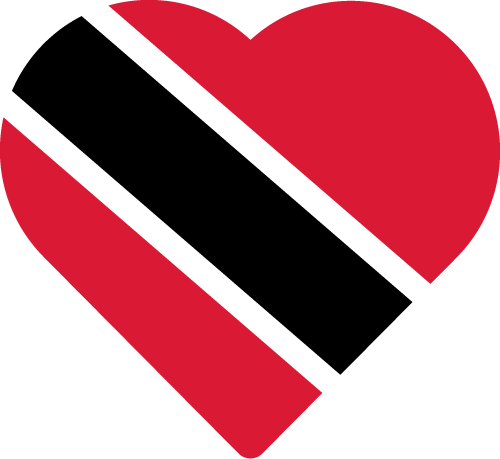 Vector flag of Trinidad and Tobago - Heart