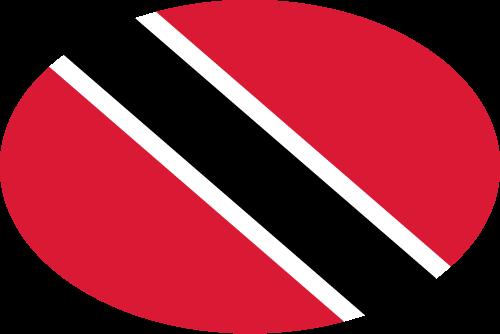 Vector flag of Trinidad and Tobago - Oval