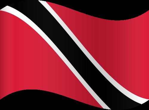 Vector flag of Trinidad and Tobago - Waving