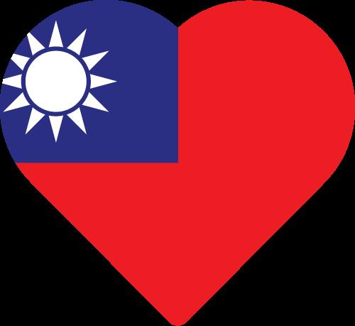 Vector flag of Taiwan - Heart