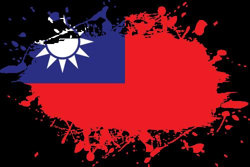 Vector flag of Taiwan - Ink Splat
