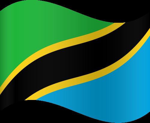 Vector flag of Tanzania - Waving