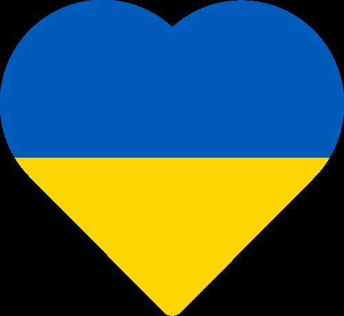 Vector flag of Ukraine - Heart