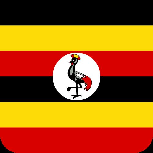 Vector flag of Uganda - Button