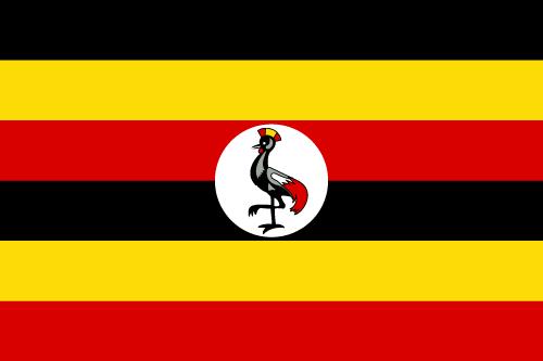 Vector flag of Uganda