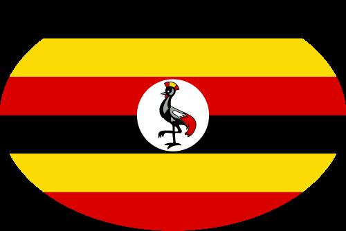Vector flag of Uganda - Oval
