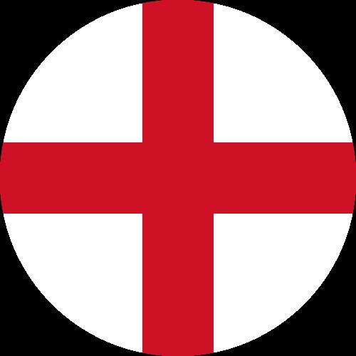 Vector flag of England - Circle