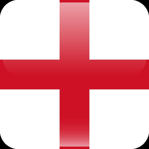 Vector flag of England - Cube