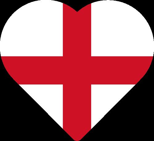 Vector flag of England - Heart