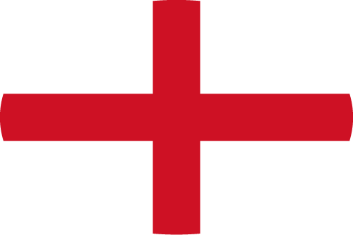 Vector flag of England - Oval