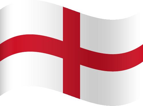 Vector flag of England - Waving