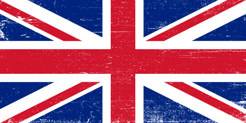 Vector flag of the United Kingdom - Grunge