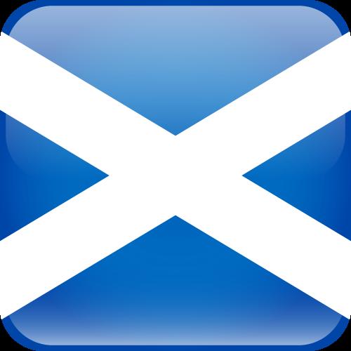 Vector flag of Scotland - Cube