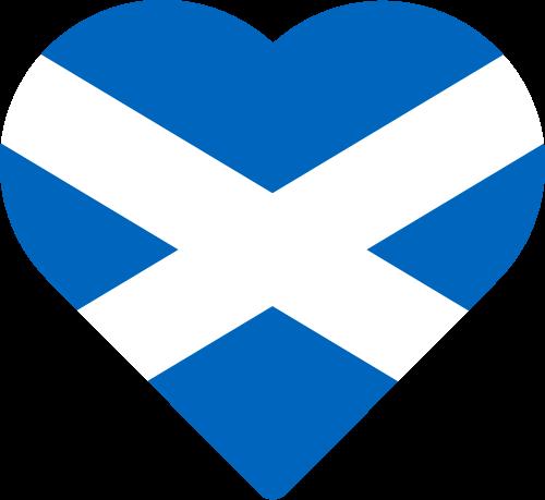 Vector flag of Scotland - Heart