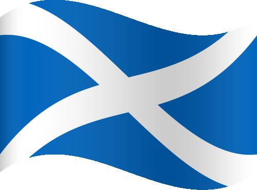 Vector flag of Scotland - Waving