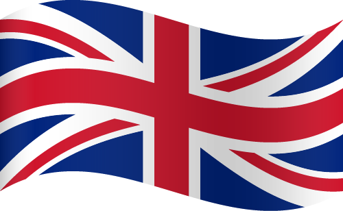 Vector flag of the United Kingdom - Waving