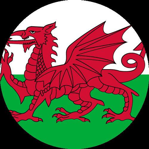 Vector flag of Wales - Circle
