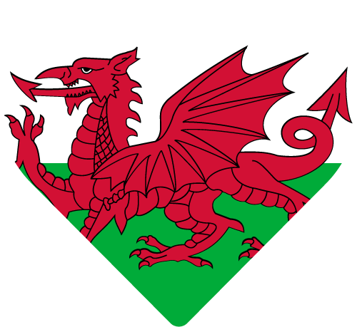 Vector flag of Wales - Heart