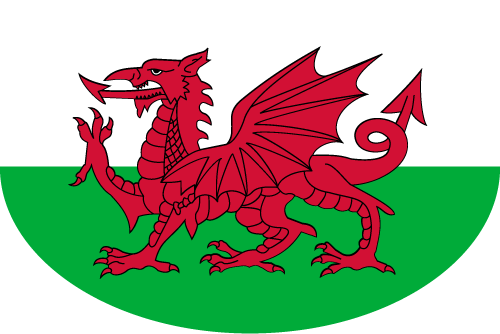 Vector flag of Wales - Oval