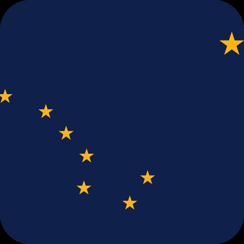 Vector flag of Alaska - Button