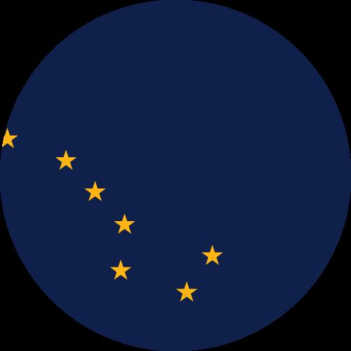 Vector flag of Alaska - Circle