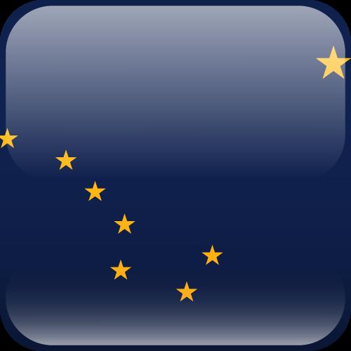 Vector flag of Alaska - Cube