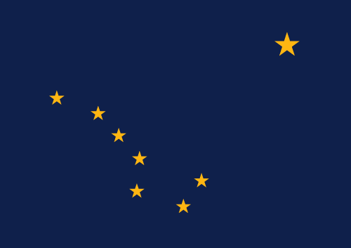 Vector flag of Alaska
