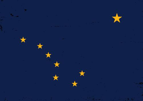 Vector flag of Alaska - Grunge