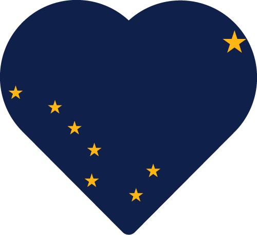 Vector flag of Alaska - Heart