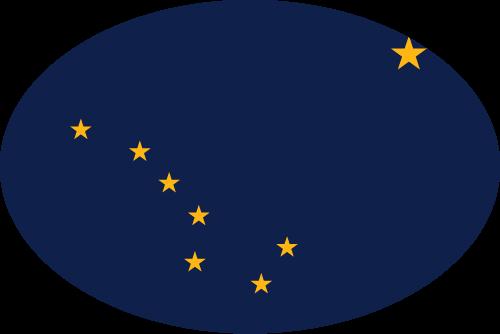 Vector flag of Alaska - Oval