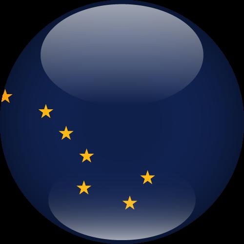 Vector flag of Alaska - Sphere
