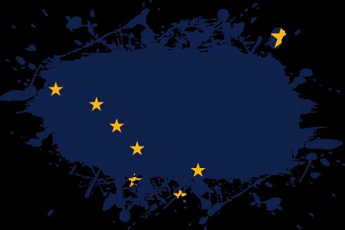 Vector flag of Alaska - Ink Splat