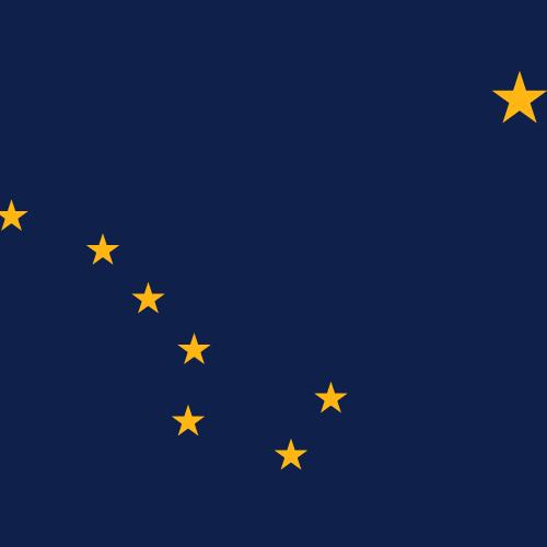 Vector flag of Alaska - Square
