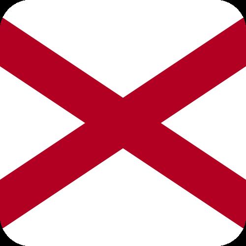 Vector flag of Alabama - Button