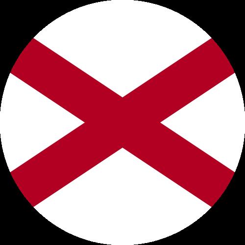 Vector flag of Alabama - Circle